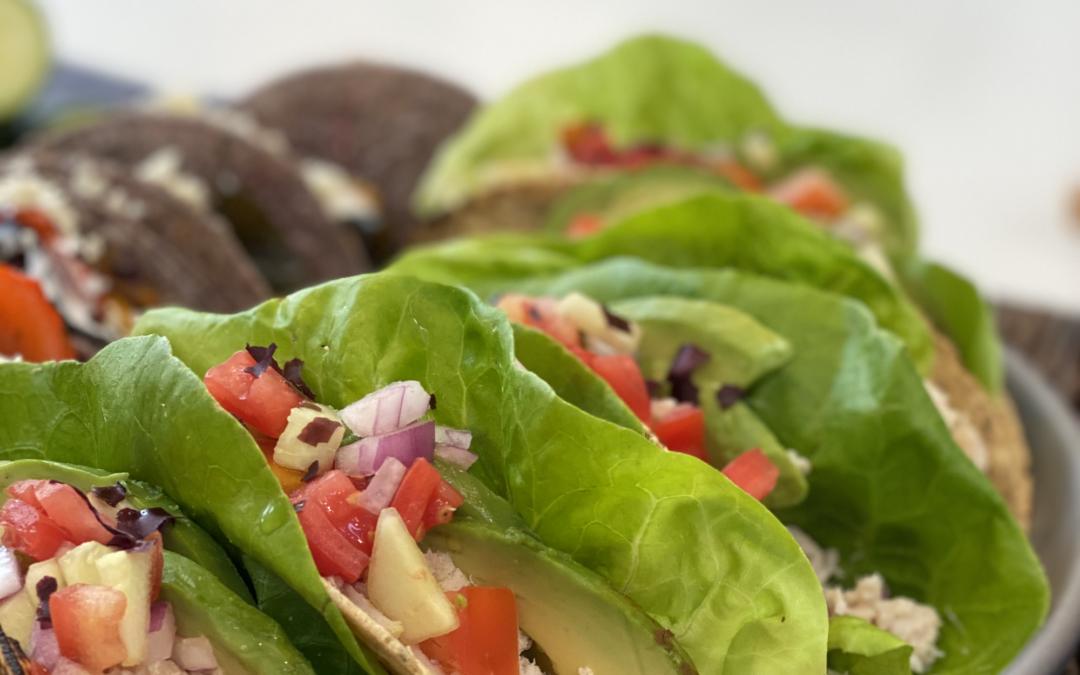 Fresh Crab & Seaweed Tacos