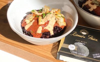 Recipe: Tinned Cockles & Black Rice with Salsa di Pomodoro