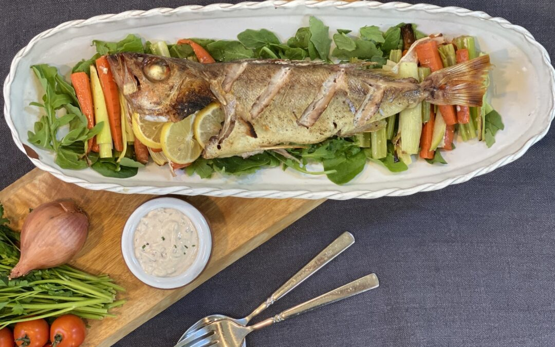 Recipe: Baked Whole Fish with Tomato Tartare