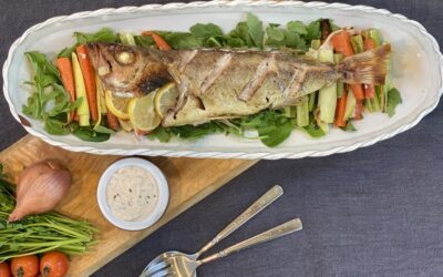 Recipe: Baked Whole Fish with Tomato Tartare