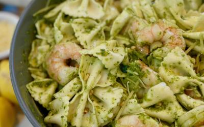 Recipe: Shrimp & Pesto Pasta