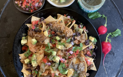 Recipe: Black Bean Nachos with Salmon Chips & Kelp Salsa