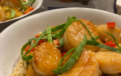 Recipe: Fair Trade Seared Scallops with Yellow Curry and Brown Rice