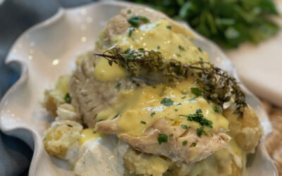 Recipe: Steamed Fresh Fish with Hollandaise and Steamed Potatoes