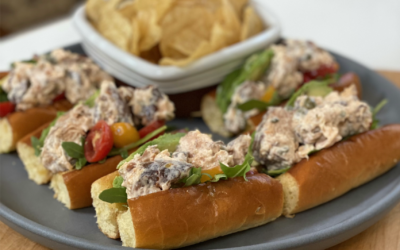 Recipe: Hot Smoked Salmon Rolls with Capers and Mayo