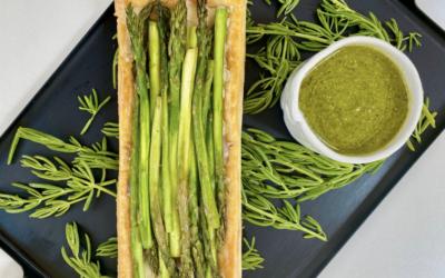 Recipe: Asparagus and Edible Seawort Tart with Gruyere