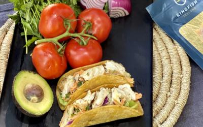 Recipe: Yellowtail Tacos with Cilantro Coleslaw