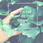 We Are Not Separate From Nature