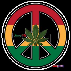 Peace Raggae Cannabis Love