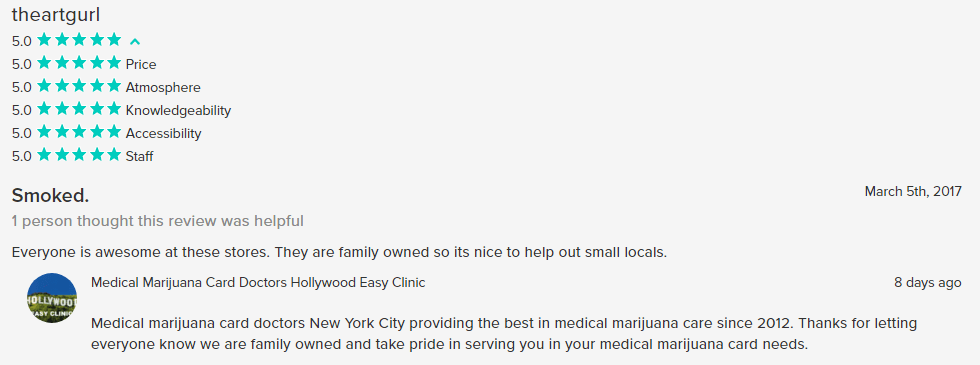 medical marijuana doctors weedmap NYC review