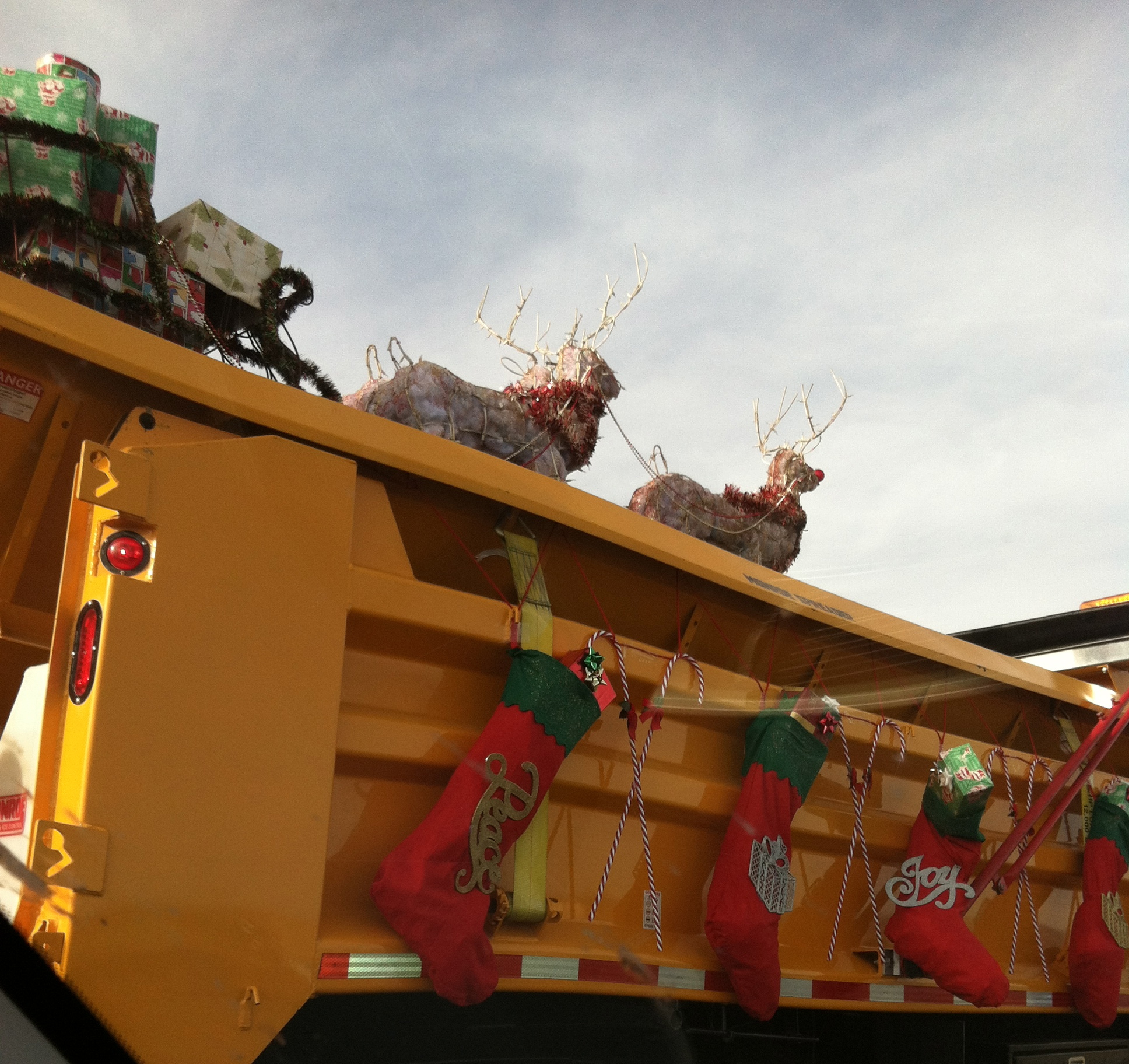 truck with decorations