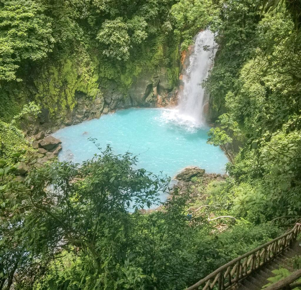 rio celeste waterfall, costa rica travel, travel blogger andra birkhimer, rio celeste