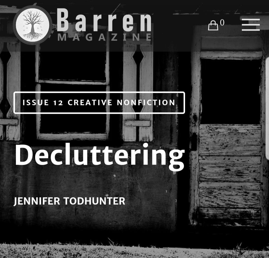 decluttering | barren magazine | nonfiction