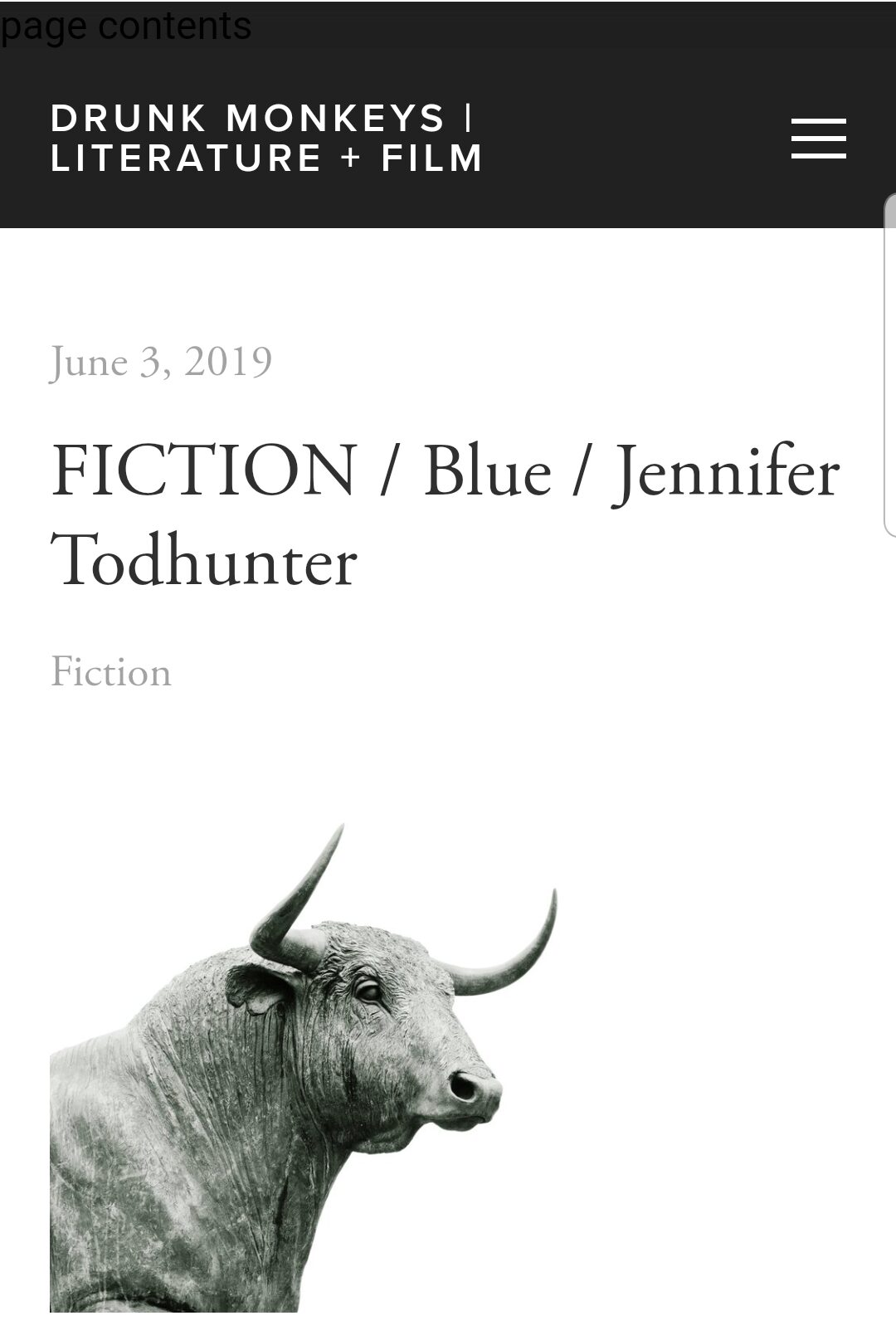 blue | drunk monkeys | fiction