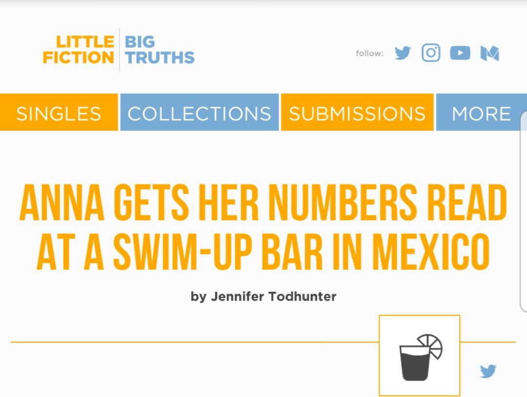 anna gets her numbers read at a swim-up bar in mexico | little fictions | big truths | fiction