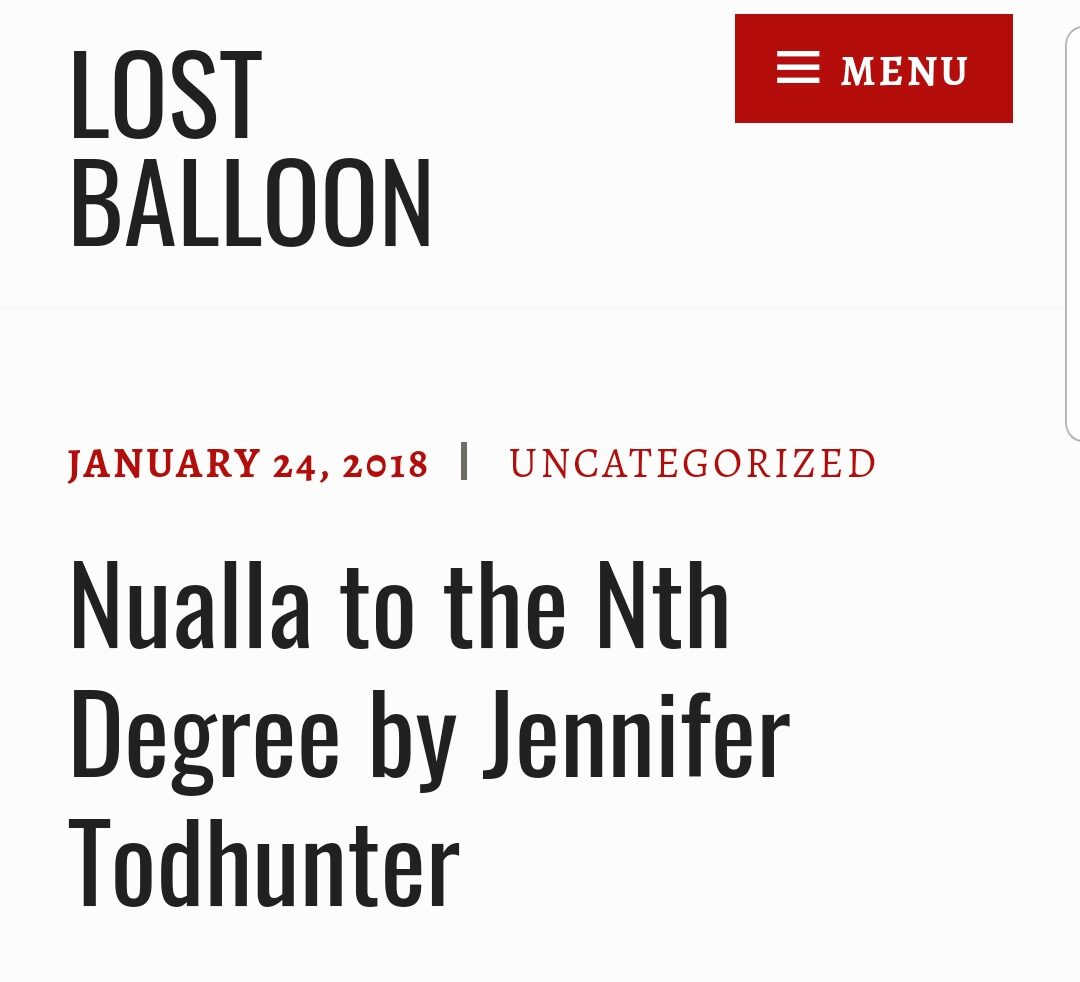 nualla to the nth degree | lost balloon | fiction
