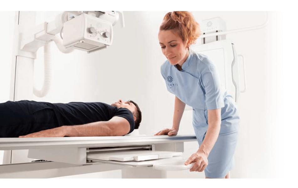Vision V, floor mounted DR system