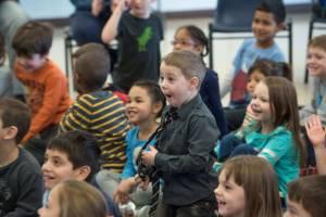 Happy Children watching Magic Show