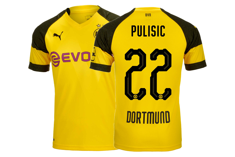 Deal Of The Day Borussia Dortmund 2018 19 Home Kit Pulisic The Third Kit