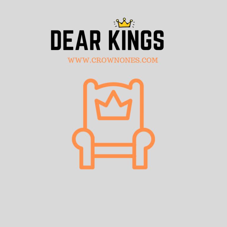 Self-Care Checklist for Black Men (Dear Kings) WK #1