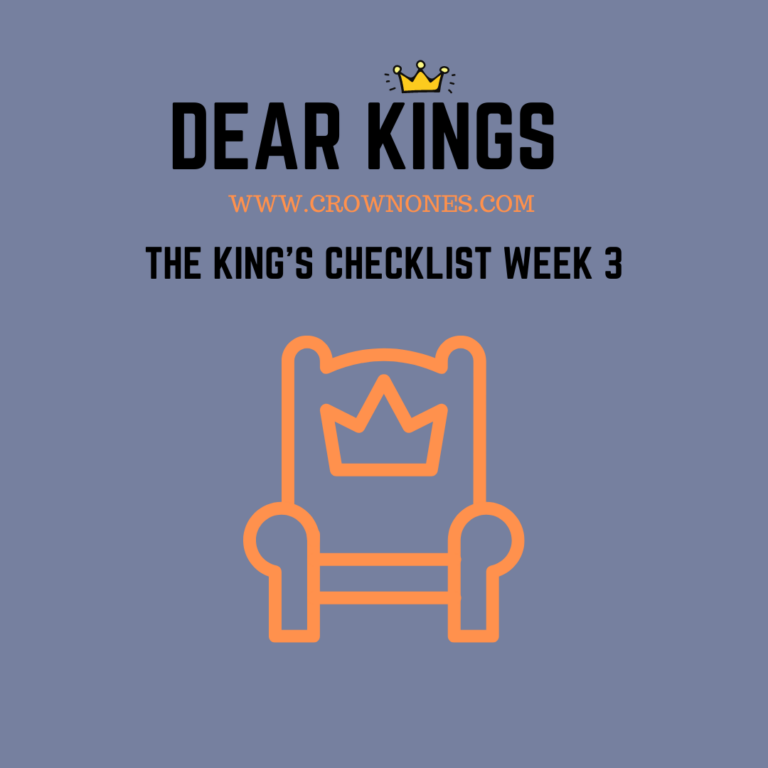 Self-Care Checklist for Black Men (Dear Kings) WK #3