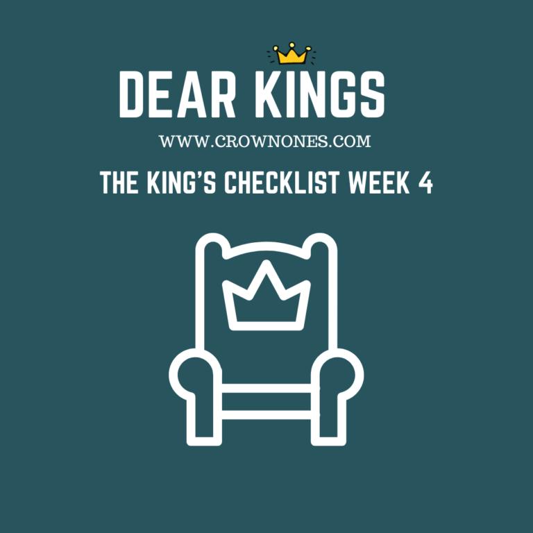 The Self-Care Checklist for Black Men (Dear Kings) WK #4