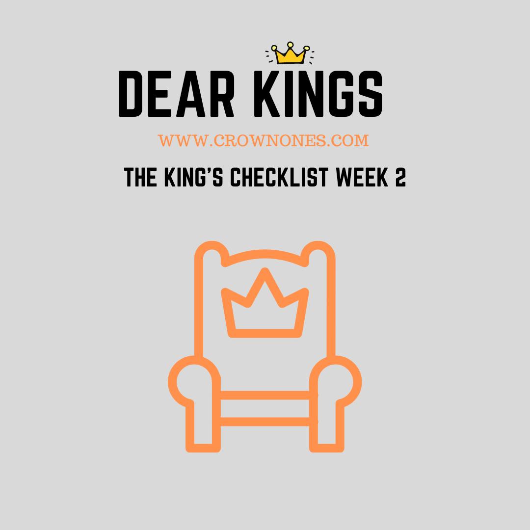 Self-Care Checklist for Black Men (Dear Kings) WK #2
