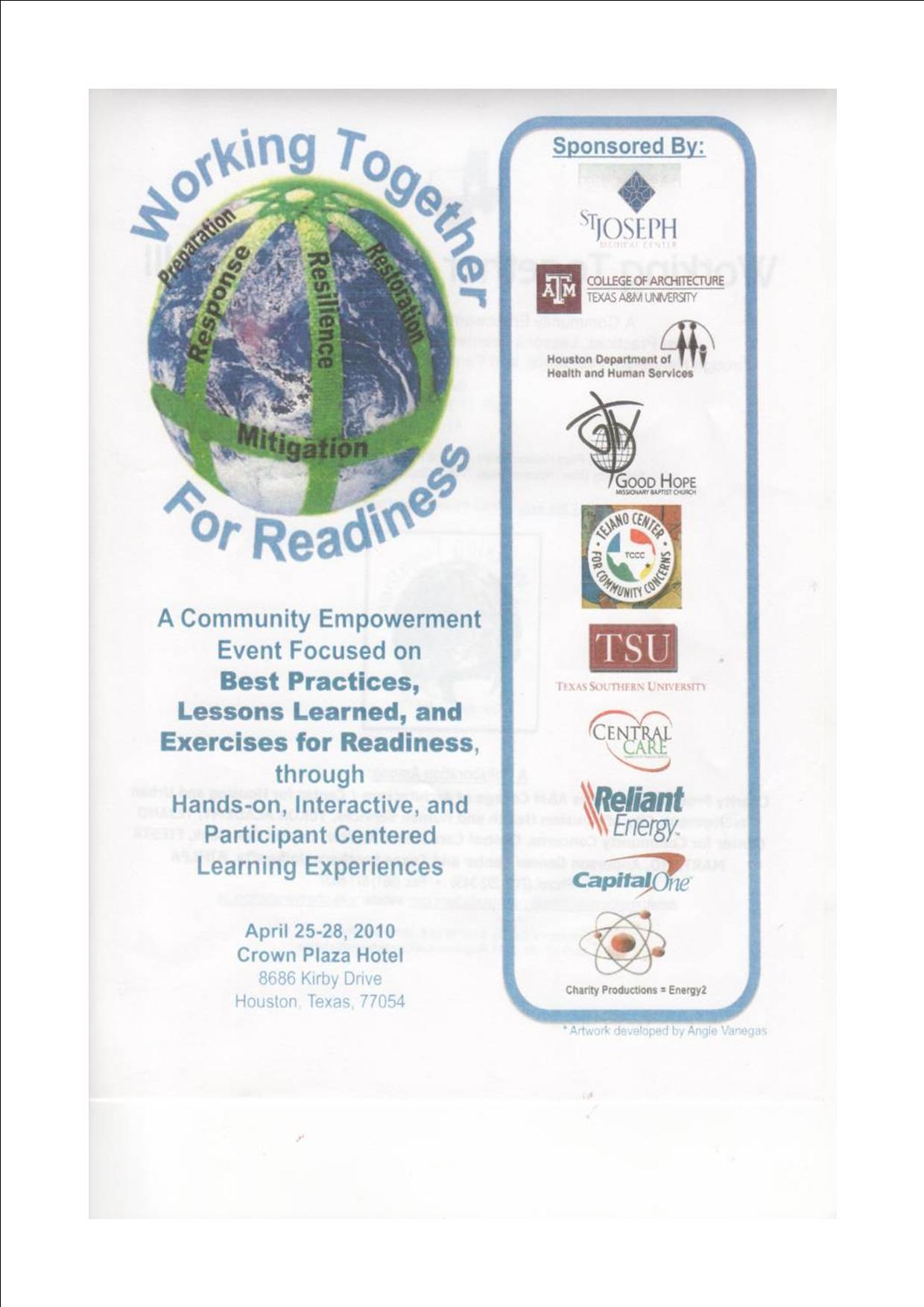Working Together For Readiness Conference Report