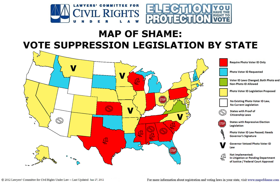 Mapping the war on the right to vote