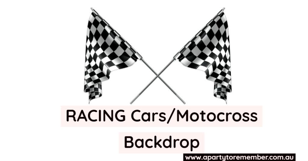 Cars/Racing/Motocross Backdrop