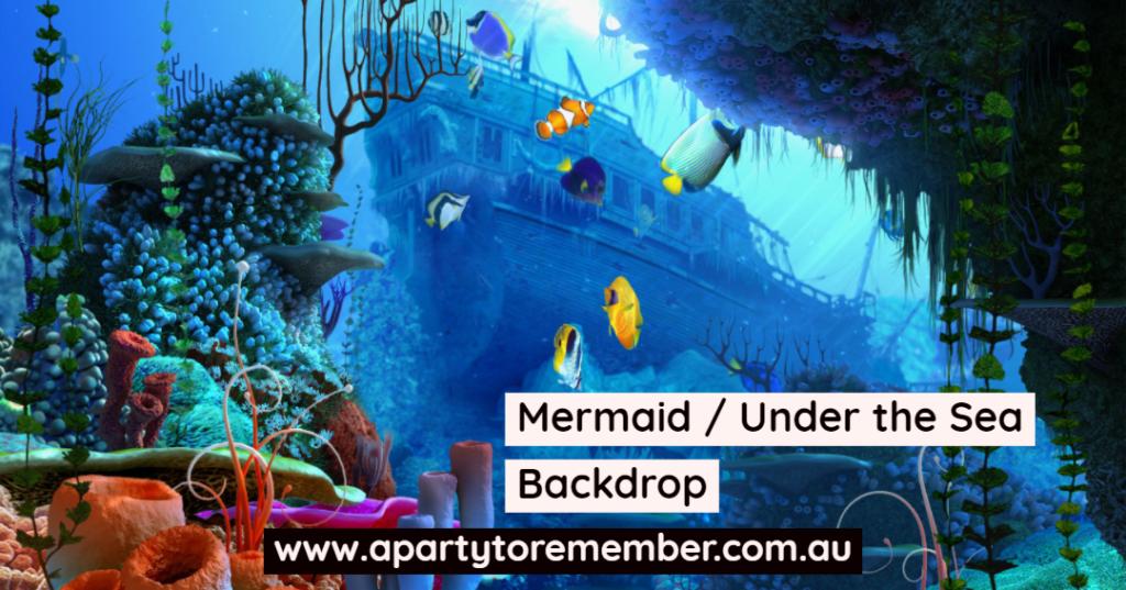 Mermaid / Under the Sea Backdrop