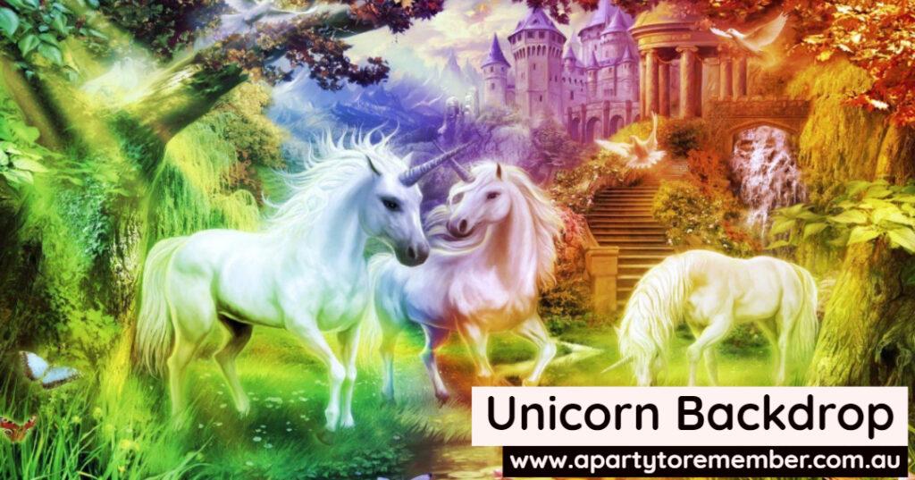 Unicorn Backdrop