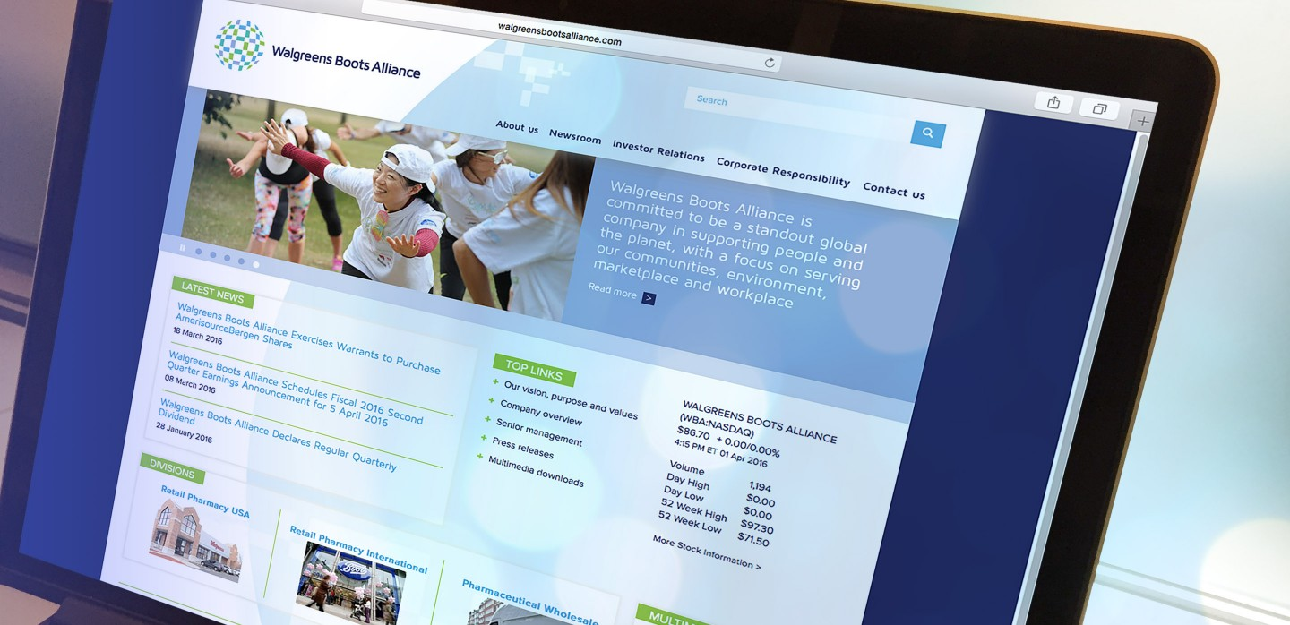 Walgreens Boots Merger Corporate Web Site