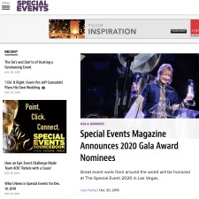 Special Events Magazine Announces 2020 Gala Award Nominees