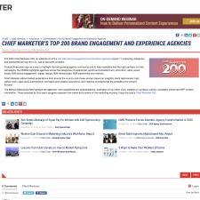 Chief Marketer's Top 200 Brand Engagement And Experience Agencies