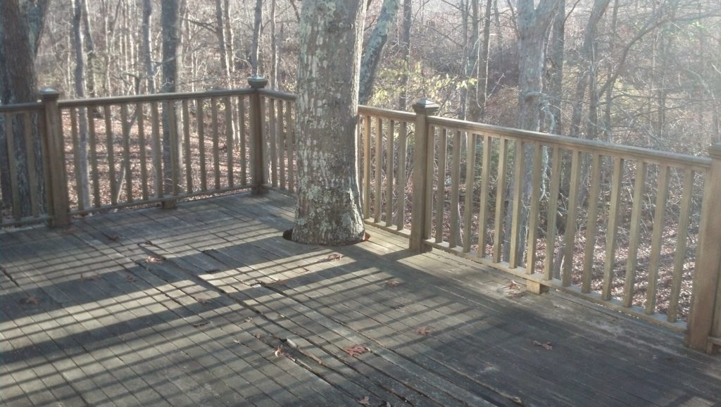 new back deck installation
