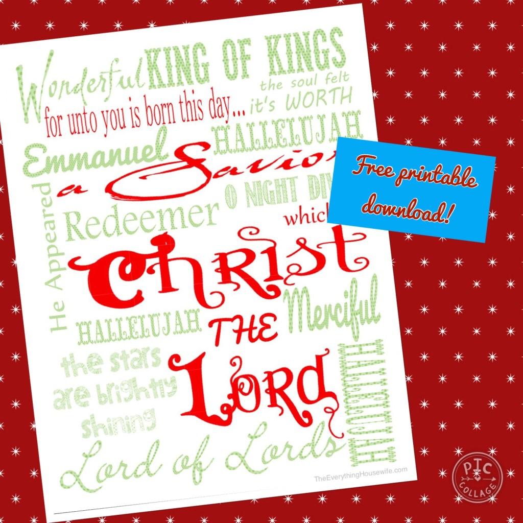 Free Christmas printable, free download, Christ the Lord