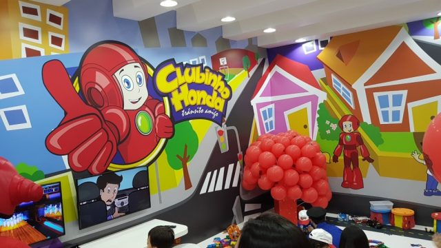 Clubinho Honda conta com atrações para a criançada. Foto: Amauri Yamazaki