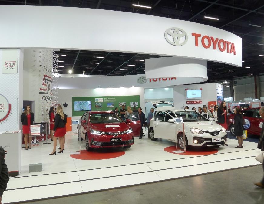 A Toyota do Brasil estará presente com a sua linha de automóveis. Foto: Amauri Yamazaki