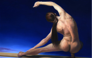 Working Without a Net, Soft Pastel Painting, 9 x 41in by Janet Rayner