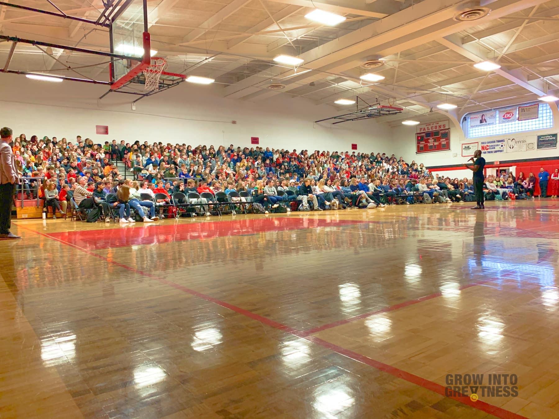Cyrus Ausar Speaking at Middlefield High School