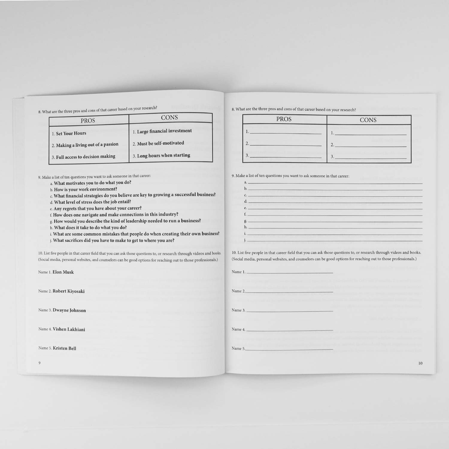 Inside of Life & Career Choice Workbook by Cyrus Ausar