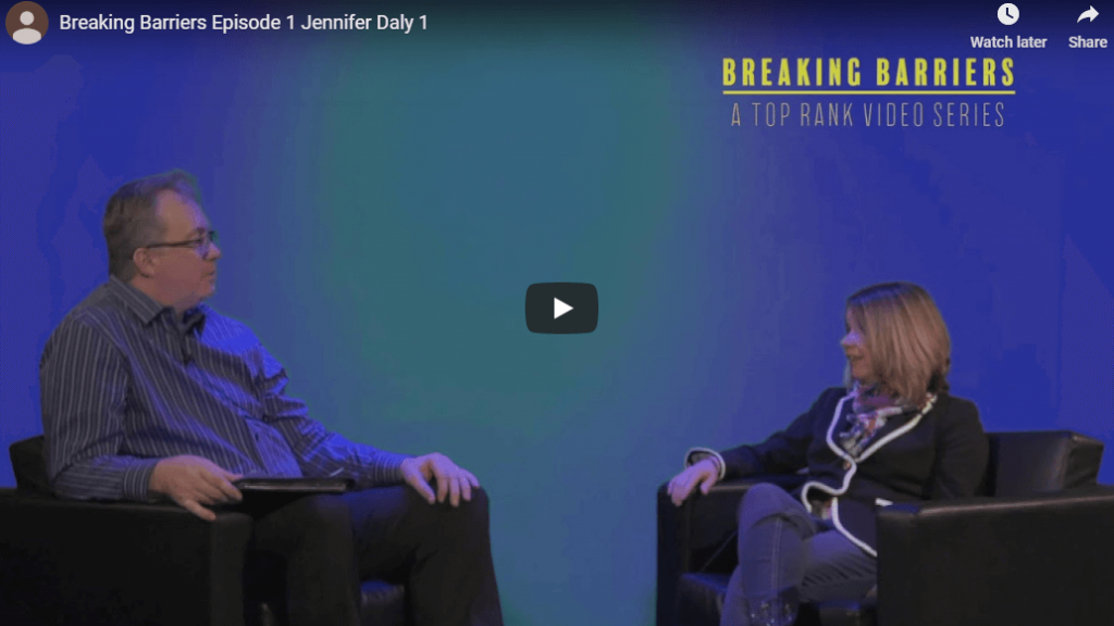 """""""Breaking Barriers"""" Episode 1 with Jennifer Daly (part 1)"""