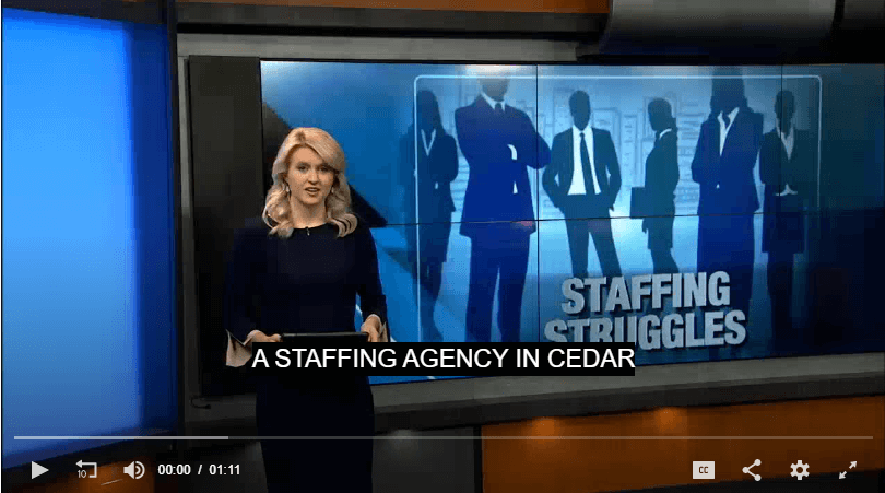 Slow job market impacting eastern Iowa staffing agencies – KCRG TV9