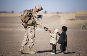 Military with children
