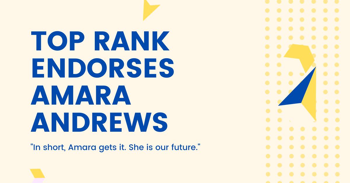 Top RANK Endorses Amara Andrews for Cedar Rapids Mayor