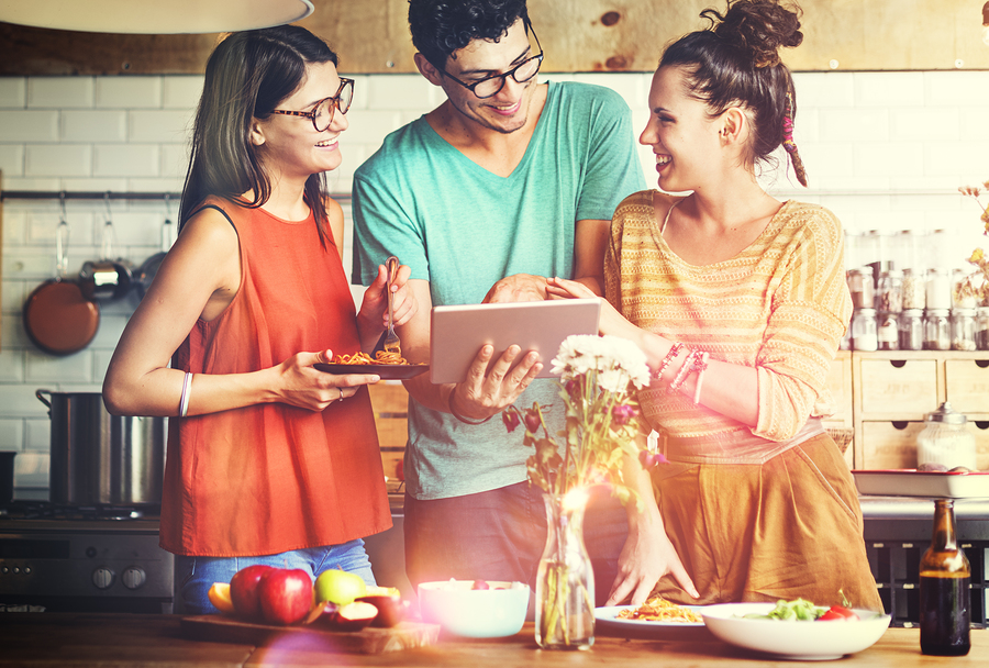 Millennials Cooking with Technology