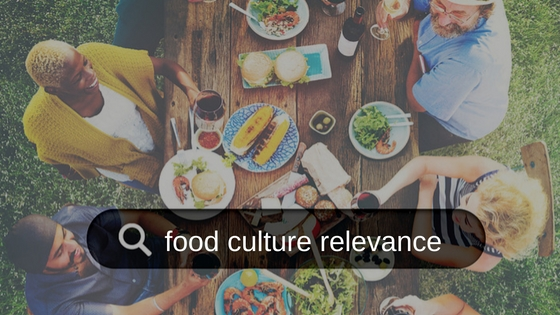 Search for food culture relevance
