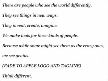 Apple Think Different script