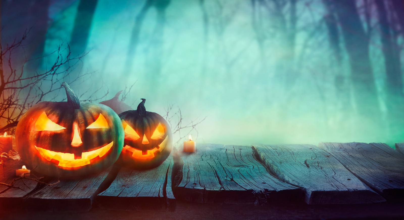 Hallowe'en scene